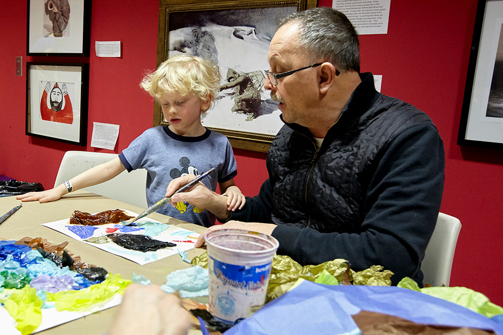 Kids & Families - Hands-on Art-making Fun: Abstract Painting