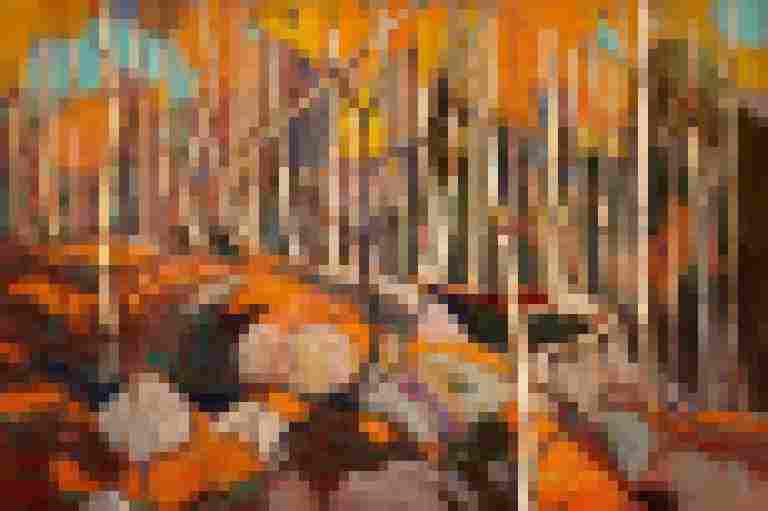 Tom Thomson, The Birch Grove, Autumn. 1915-1916