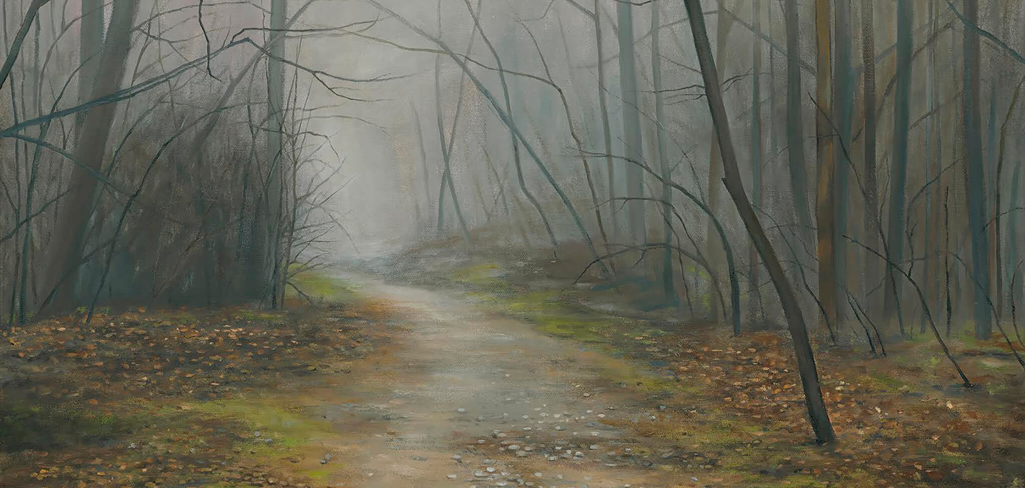 Susan Outlaw The Fog Path (detail) (2017) Acrylic on canvas WAAH 121 Exhibition Best In Show Winner