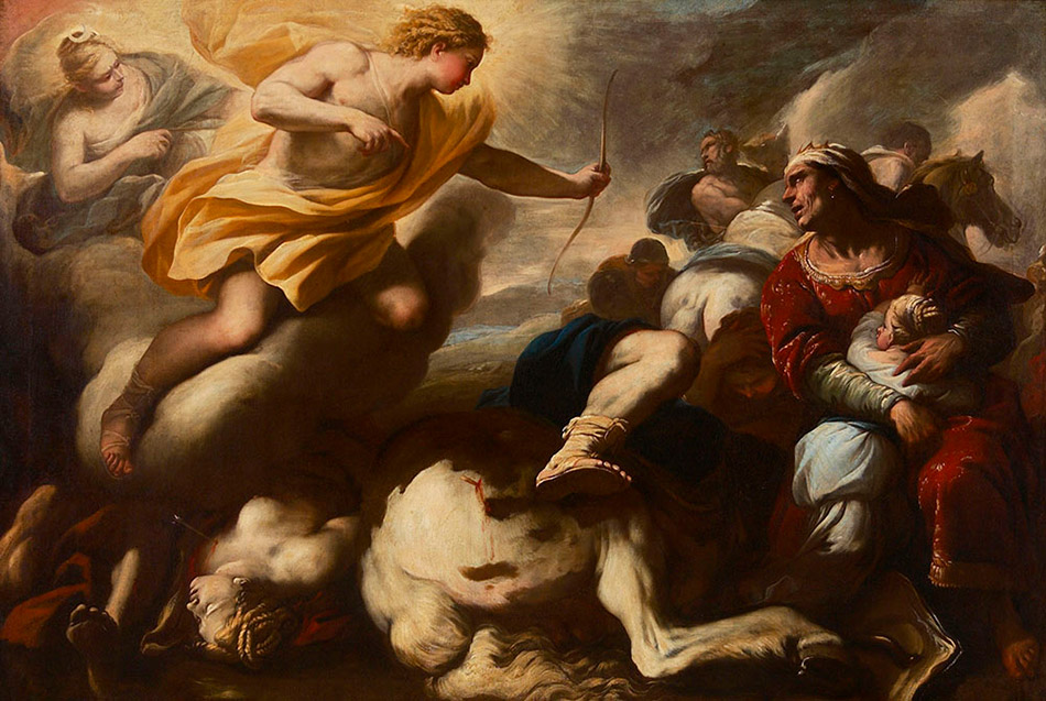 Luca Giordano (Italian 1634-1705), Massacre of the Children of Niobe c. 1685, oil on canvas, Art Gallery of Hamilton, The Joey and Toby Tanenbaum Collection, 2002. Photo credit: Roy and Carole Timm