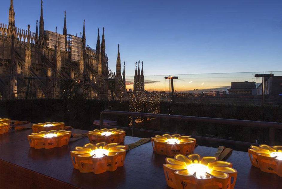 Little Sun solar lights displayed at la Rinascente, Milan. Photo © Marco Beck Peccoz, 2012.
