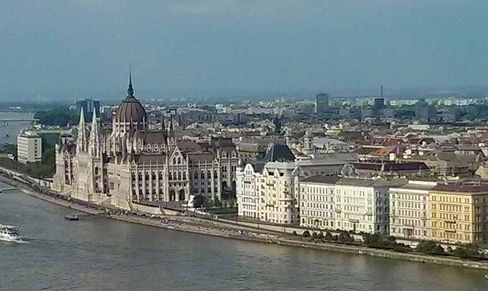 View of Budapest from the Dome of the Hungarian National Gallery.