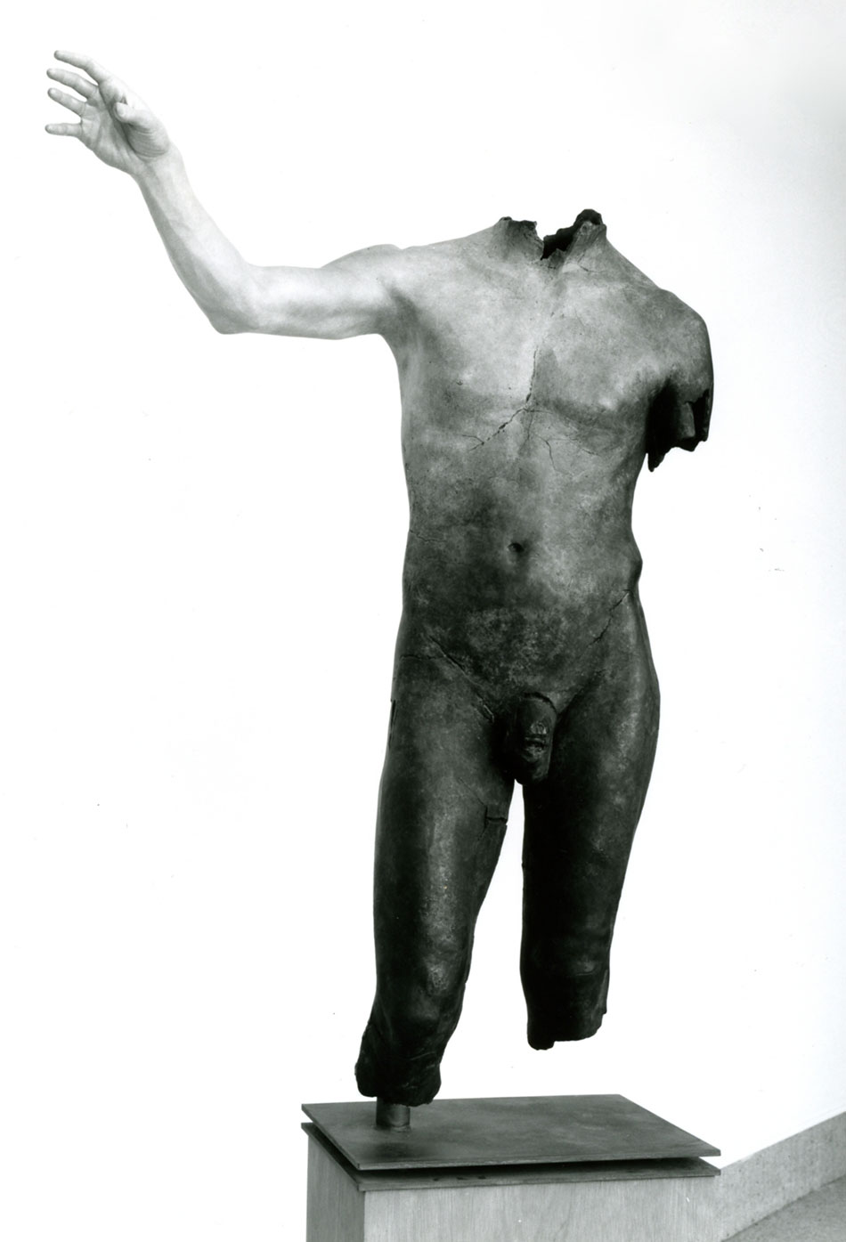 fig. 3 – Evan Penny (Canadian b. 1953), Shadow Torso 1985, oil, bronze, Gift of Ron Kaplansky, 1990.