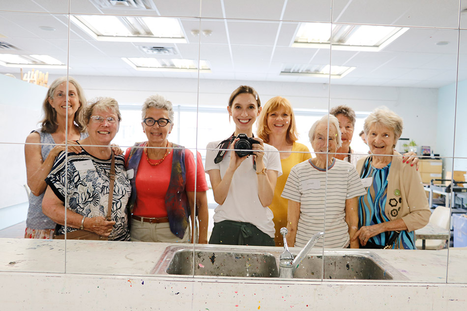'Selfie' of participants during a 2018 session of the Artful Moments Program