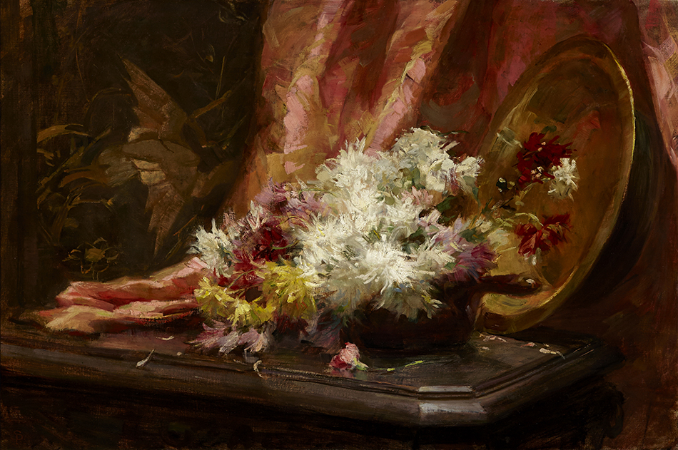 Sophie Pemberton (1869-1959), Chrysanthemums, c.1901, oil on canvas. Gift of the Volunteer Art for the 100th Project and purchased with the assistance of the Peena Memorial, 2014.