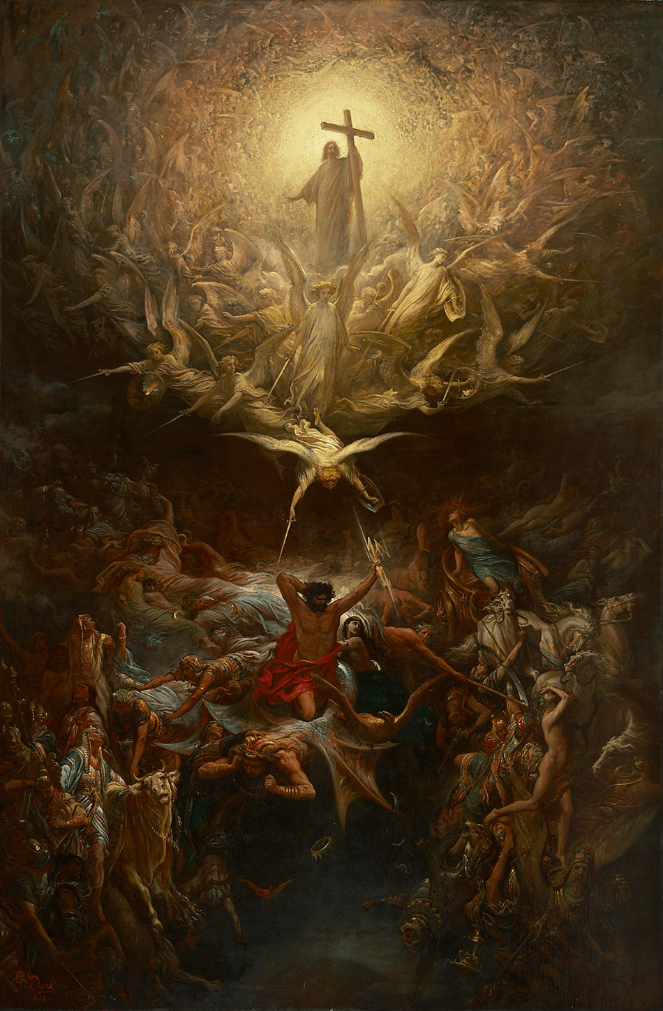 Gustave Doré (French 1832-1883), The Triumph of Christianity over Paganism 1868, oil on canvas. The Joey and Toby Tanenbaum Collection, 2002.