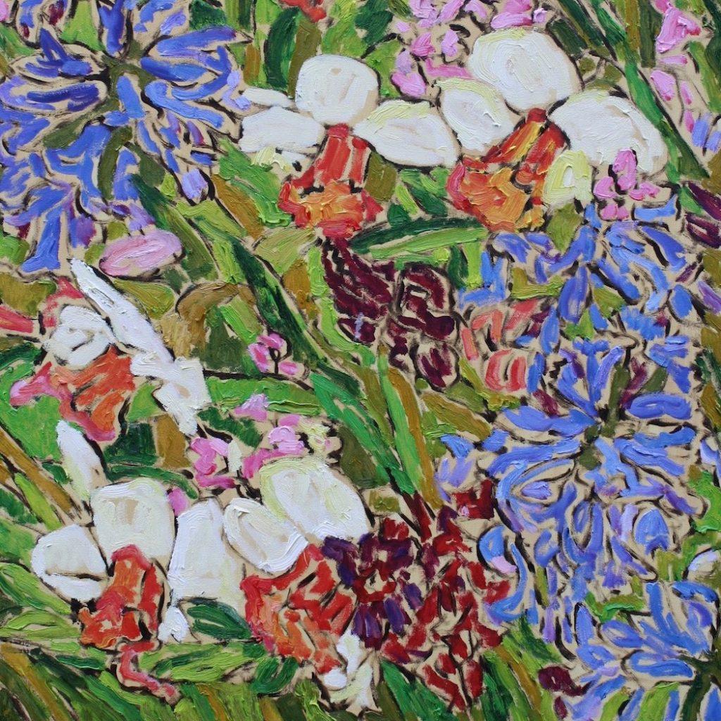 """Stephen Altena, """"More Daffodils,"""" oil on canvas"""